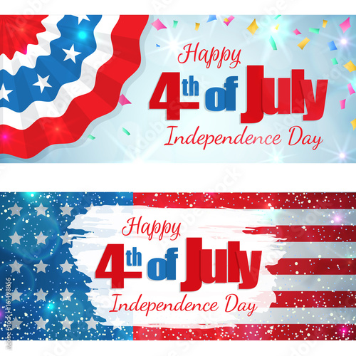 Happy 4th Of July Independence Day Set Of Greeting Cards