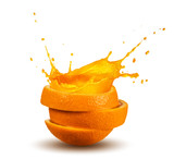 splashing orange juice - 161503203