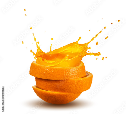 Deurstickers Sap splashing orange juice