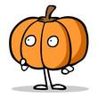 Cartoon Kürbis zu Halloween mit Armen und Beinen - 161503616