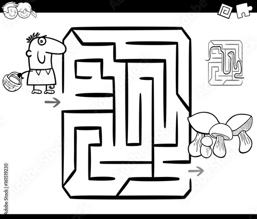 mushrooming maze coloring page