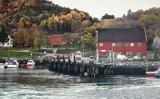 Norwegian fishing village on the sea coast