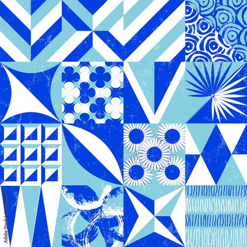 seamless abstract geometric background pattern,seventies retro flat style