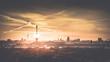 Leinwanddruck Bild - Berlin am Morgen zum Sonnenaufgang