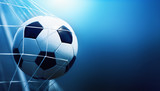 Soccer ball in goal - 161550679