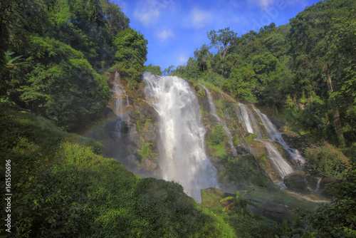 Waterfall in Thailand. - 161550696