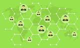 Netzwerke Weltweit - Grün - 161551678
