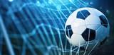 Soccer ball in goal - 161554878