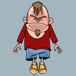 cartoon funny angry character man with a beard - 161558451