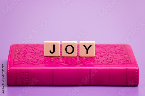 Joy Spelled Out in Tiles