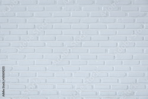 Deurstickers Baksteen muur Pattern of white brick wall for background and textured, White wall background