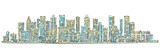 City skyline background. Hand drawn vector - 161625227