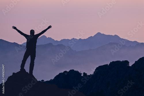 Mountains landscape, sunset