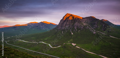 Buchaille Etive Mor on a summer evening Poster