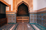 saadian tombs at marrakech, morocco