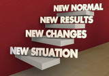 New Normal Situation Changes Results Steps 3d Illustration - 161716828