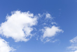 White cloud on clear blue sky, nature summer outdoor day light, summer sky concept