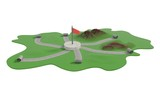 Road construction in province area 3d illustration