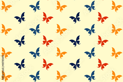 Orange and red butterfly pattern - 161785693