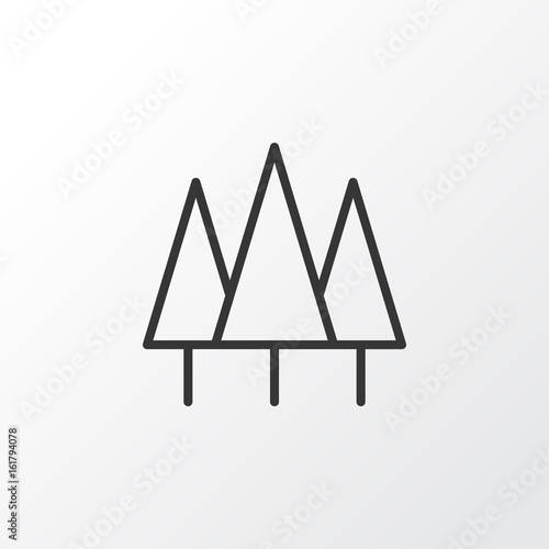 Wood Icon Symbol. Premium Quality Isolated Forest Element In Trendy Style.