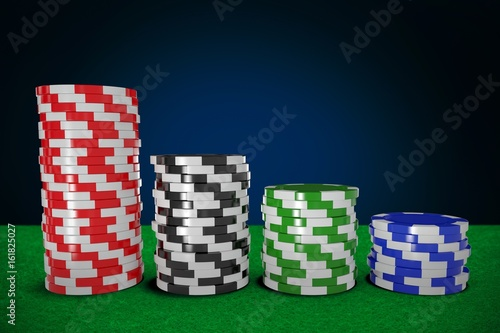 Composite image of graphic 3d image of gambling chips плакат