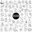 dog characters large set - 161839604
