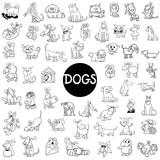 dog characters large set