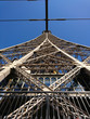 Close up of Eiffel tower part in Paris