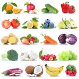 Obst und Gemüse Früchte Apfel Orange Zitrone Beeren Bananen Freisteller freigestellt isoliert - 161845288