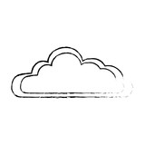 isolated cute clouds icon vector illustration graphic design