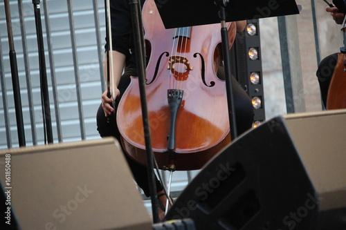 Plakát violoniste  en concert