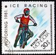 Quadro Postage stamp Mongolia 1981 Ice Racing