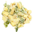 Closeup Potato Salad Over White
