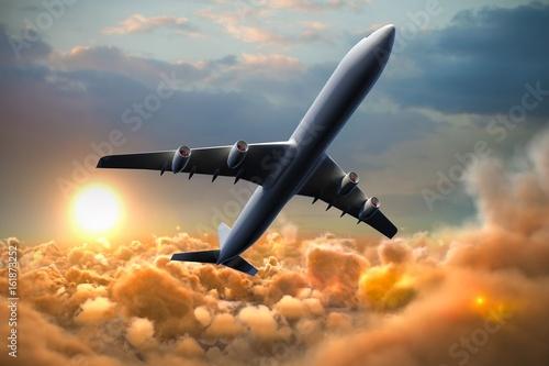 Fototapeta Composite 3d image of graphic airplane
