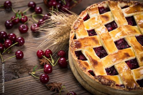 Sweet homemade cherry pie