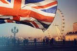 UK flag and London Eye - 161896032