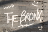 Bronx Word Graffiti Painted on Wall - 161897622