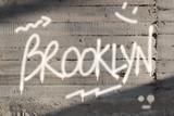 Brooklyn Word Graffiti Painted on Wall - 161897628