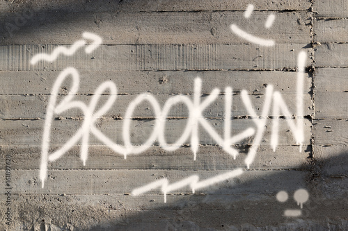 Brooklyn Word Graffiti Painted on Wall