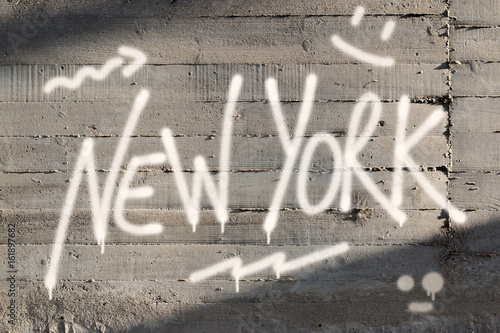 Plexiglas Graffiti New York Word Graffiti Painted on Wall