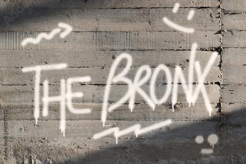 Bronx Word Graffiti Painted on Wall Poster