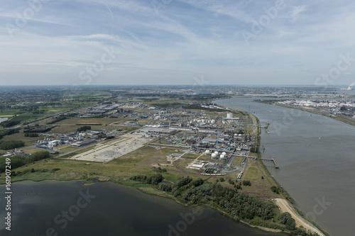 Fotobehang Antwerpen Aerial image of Arlanxeo and Ineos at Port of Antwerp