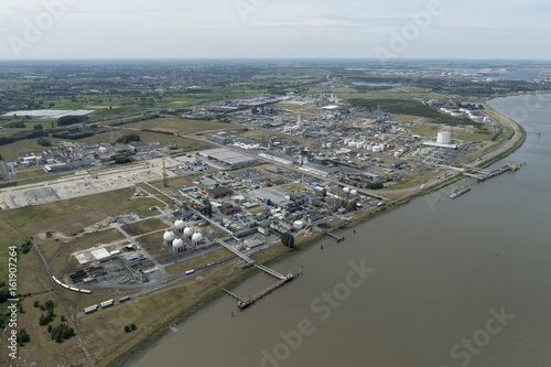 Aluminium Antwerpen Aerial image of Arlanxeo and Ineos at Port of Antwerp