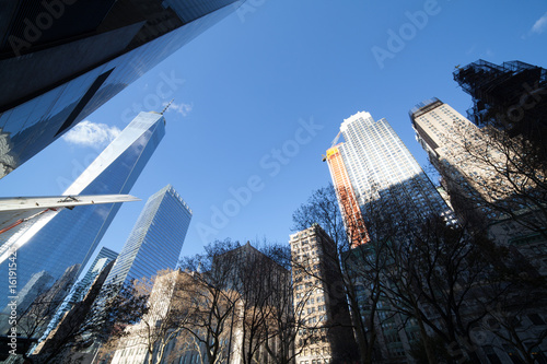 Freedom Tower / One World Trade Center and surrounding buildings Poster