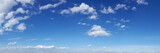 Panoramic sky with cloud on a sunny day.
