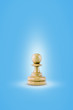 chess on Blue background