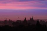 Twilight sky in thousand pagodas of Bagan, Myanmar.