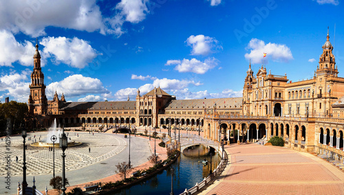View to Europe square in Seville, Spain