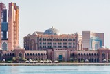 View of the most expensive hotel in the world - the Emirates Palace Hotel, Abu Dhabi, United Arab Emirates