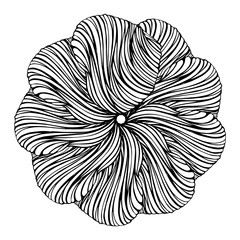 Abstract round design floral element
